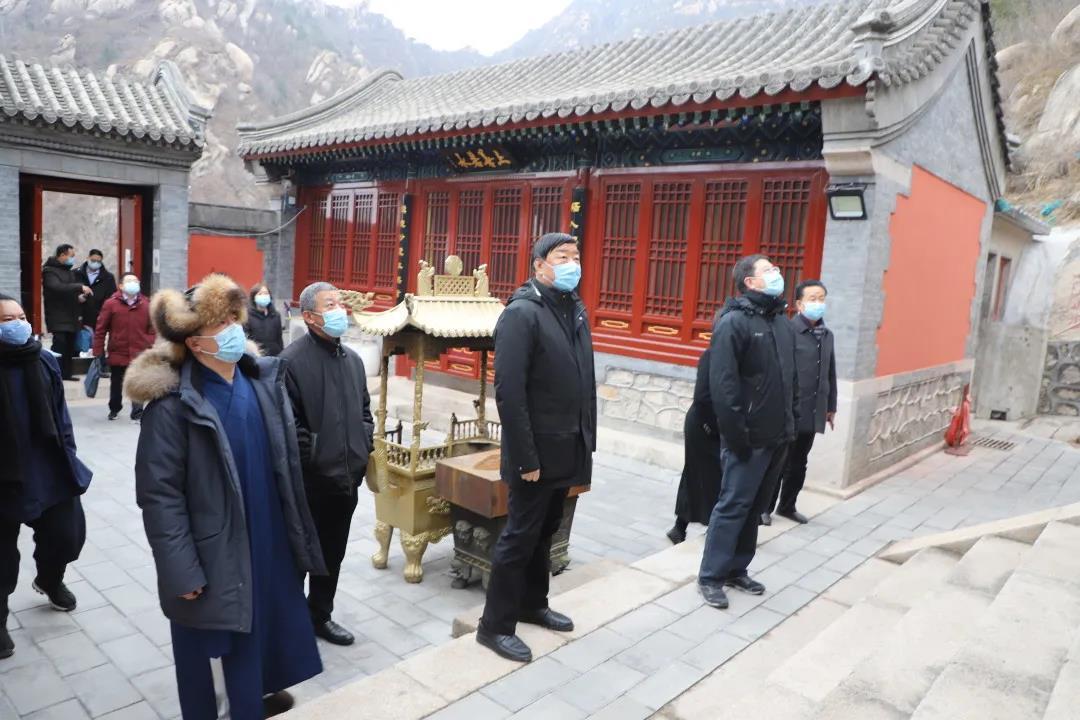 北京市民族宗教委主任到海淀区桃源观检查工作