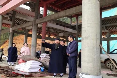 江西省民宗局副局长马哲海一行到宜春市崇道宫调研