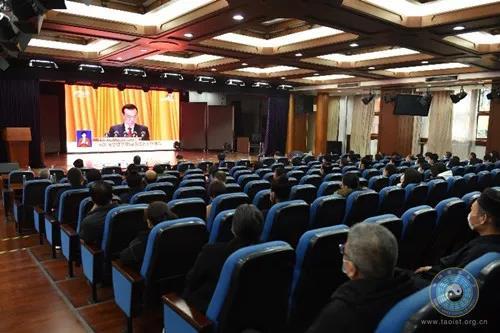 中国道教协会组织收看十三届全国人大四次会议开幕会