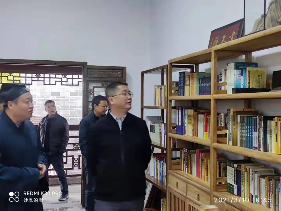 成都市委统战部副部长傅军一行到真多观调研
