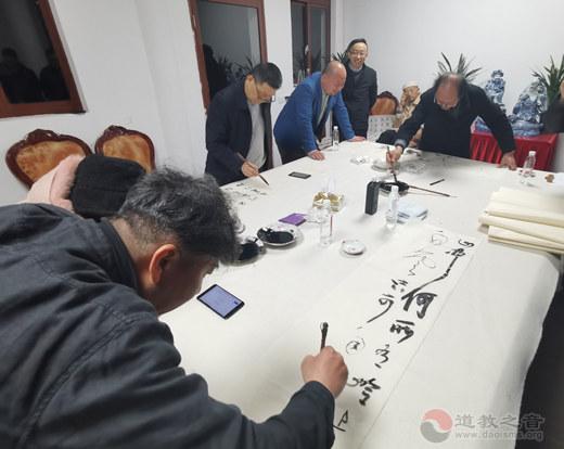 巴城书协年会暨石牌东岳庙书画笔会顺利举行