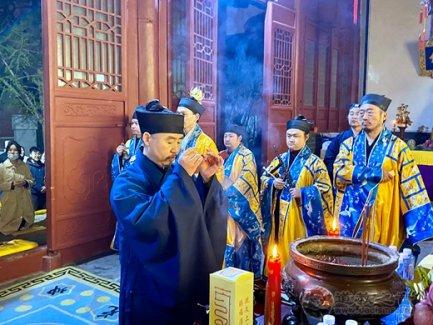 泰山道教庆贺太上道祖圣诞祈福法会在灵应宫举行