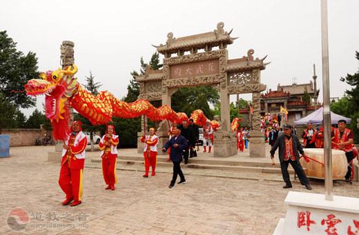 陕西省榆阳卧云山道观用庙会宣传绿水青山发展理念