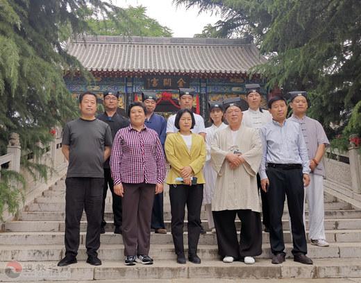 石家庄市政协副主席邓小梅一行赴抱犊寨金阙宫调研