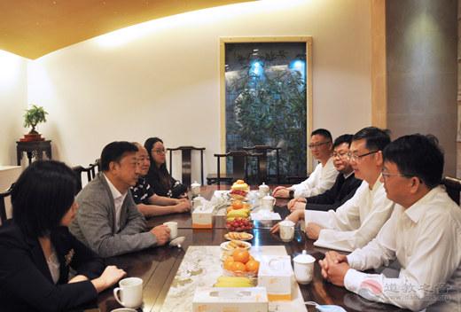 海南省委统战部副部长、省台办主任刘耿一行到上海城隍庙参访交流
