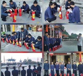 广西桂平市道教协会举办消防安全应急演练活动
