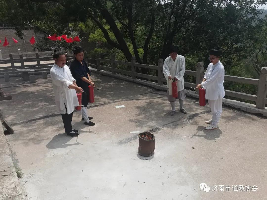济南市道教协会检查督导各道教活动场所汛期安全消防防疫常态化工作