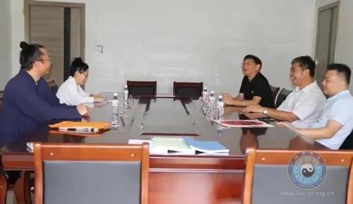 广西壮族自治区宗教团体服务中心相关负责人到广西道教协会调研