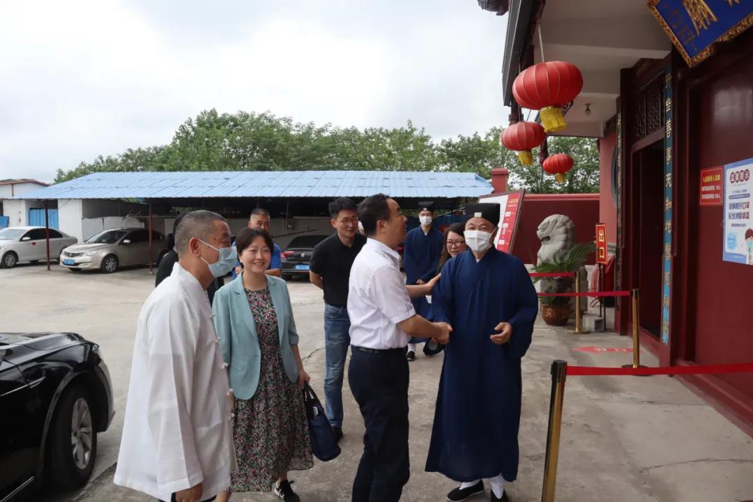 上海市委统战部副部长王霄汉一行赴上海道教学院慰问