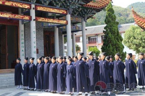 南岳坤道学院2021级新生军训圆满结束