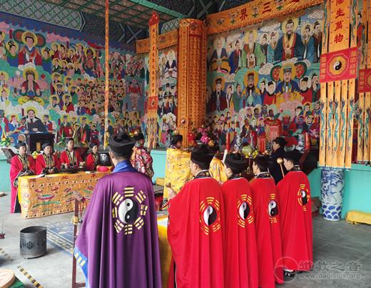 保定市唐县道协举办和平祈祷法会纪念中国抗战胜利76周年