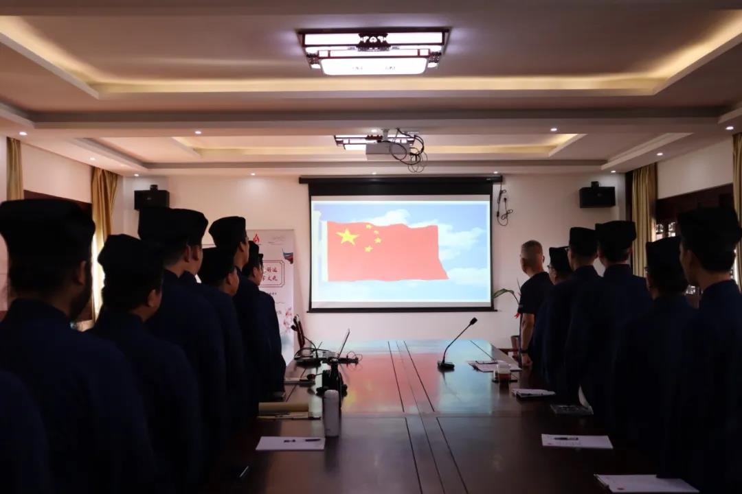 """上海道教学院举行""""坚持学修,福慧双至""""主题班会"""