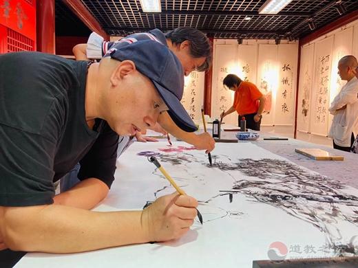上海白云观举办喜迎国庆丹青书画笔会