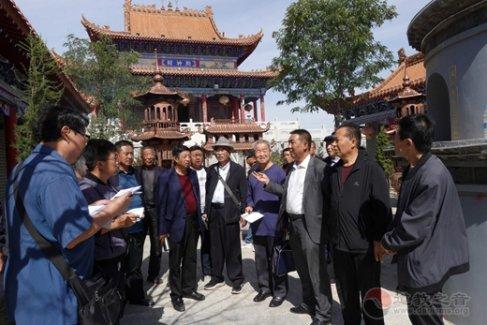 陕西榆林市关公文化研究会考察长城沿线民众信仰关公习俗